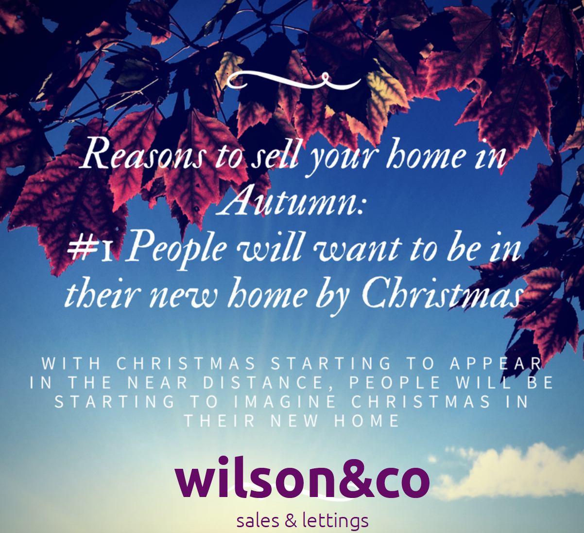 Wilson&Co Homes presents Top Five Reasons To Sell Your Home In Autumn