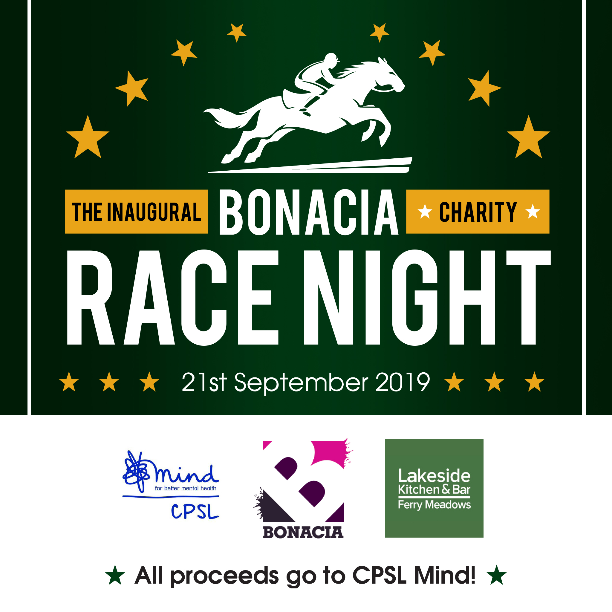 Charity Race Night for CPSL Mind on 21st September 2019