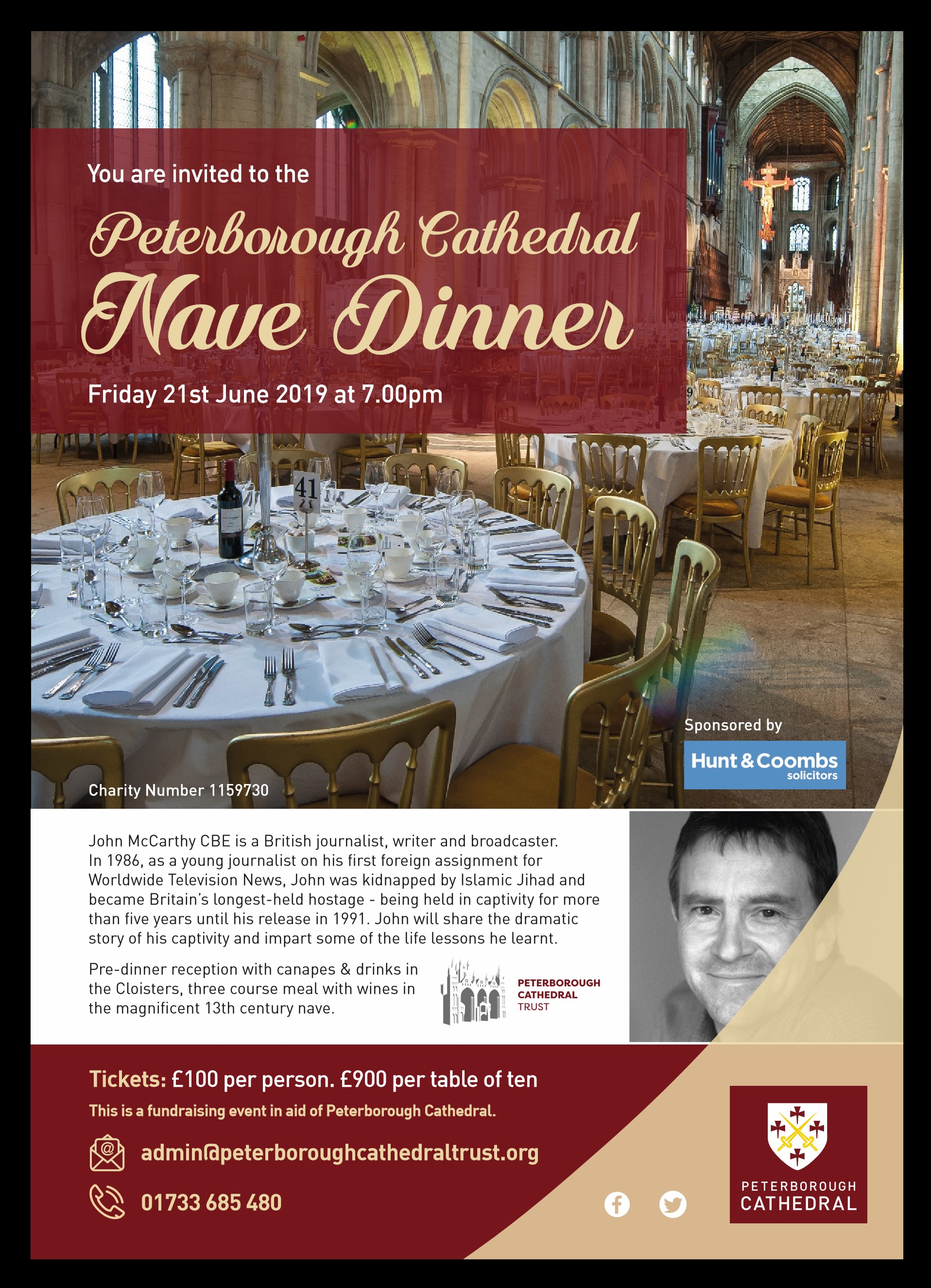 Peterborough Cathedral Annual Nave Dinner