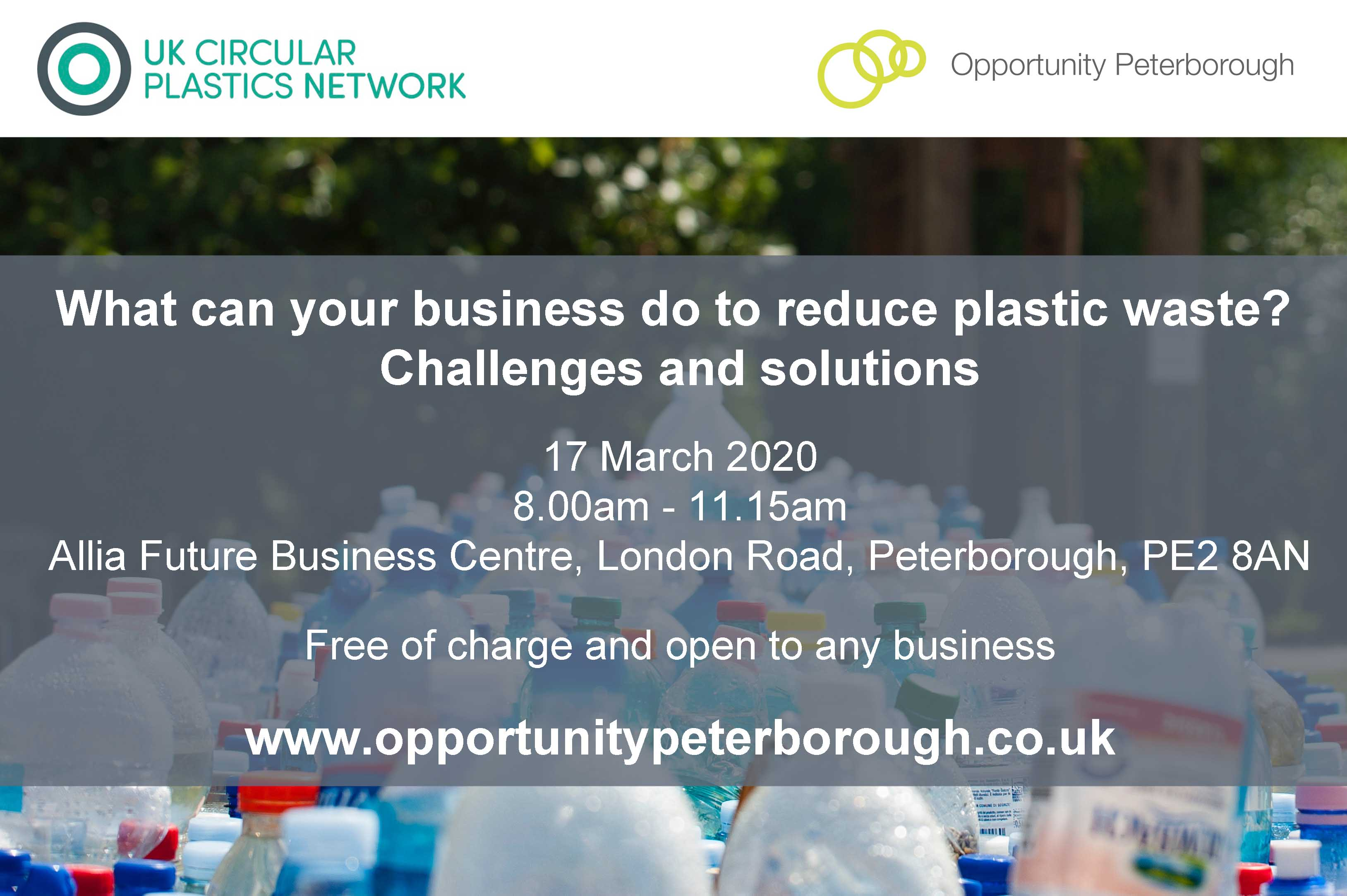 POSTPONED What can your business do to reduce plastic waste? – challenges and solutions