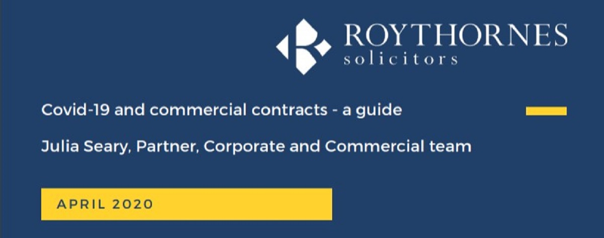 Covid-19 and commercial contracts - free guide