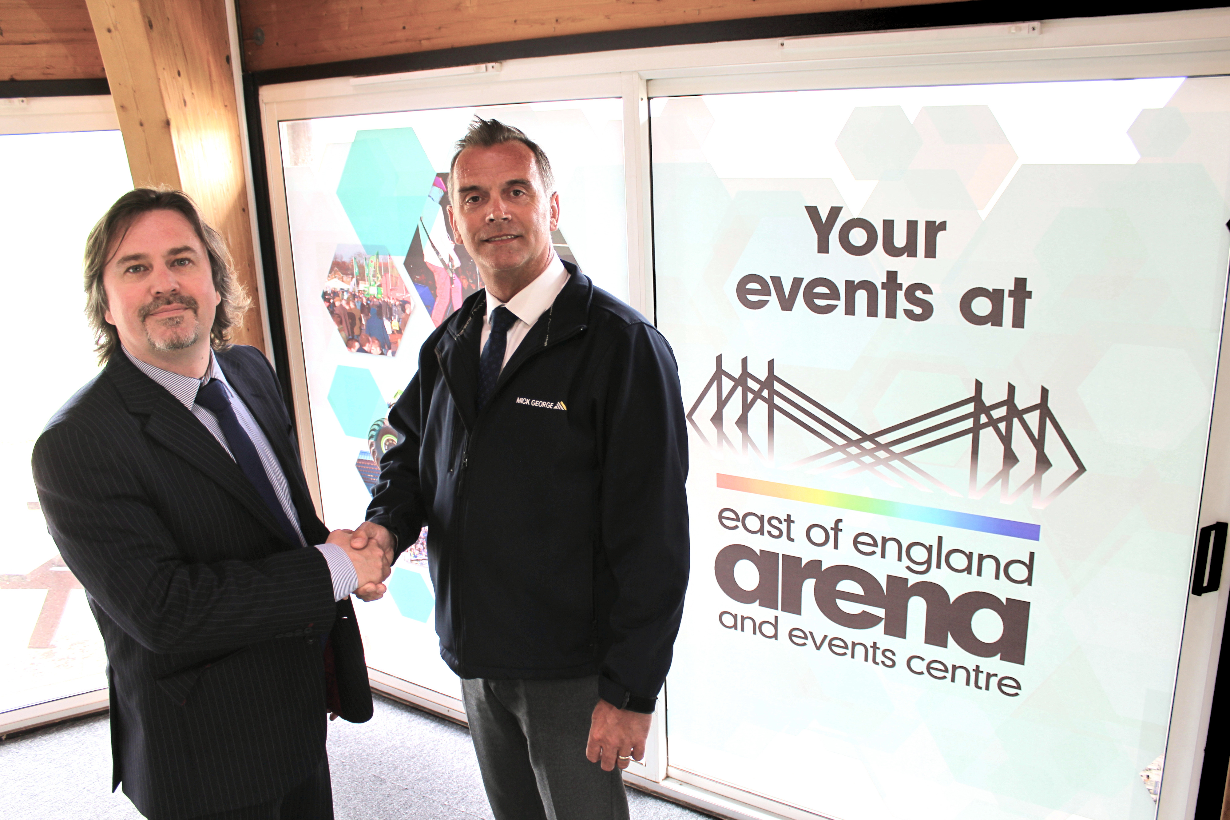 East of England Arena agrees fifth year of partnership with Mick George Ltd.