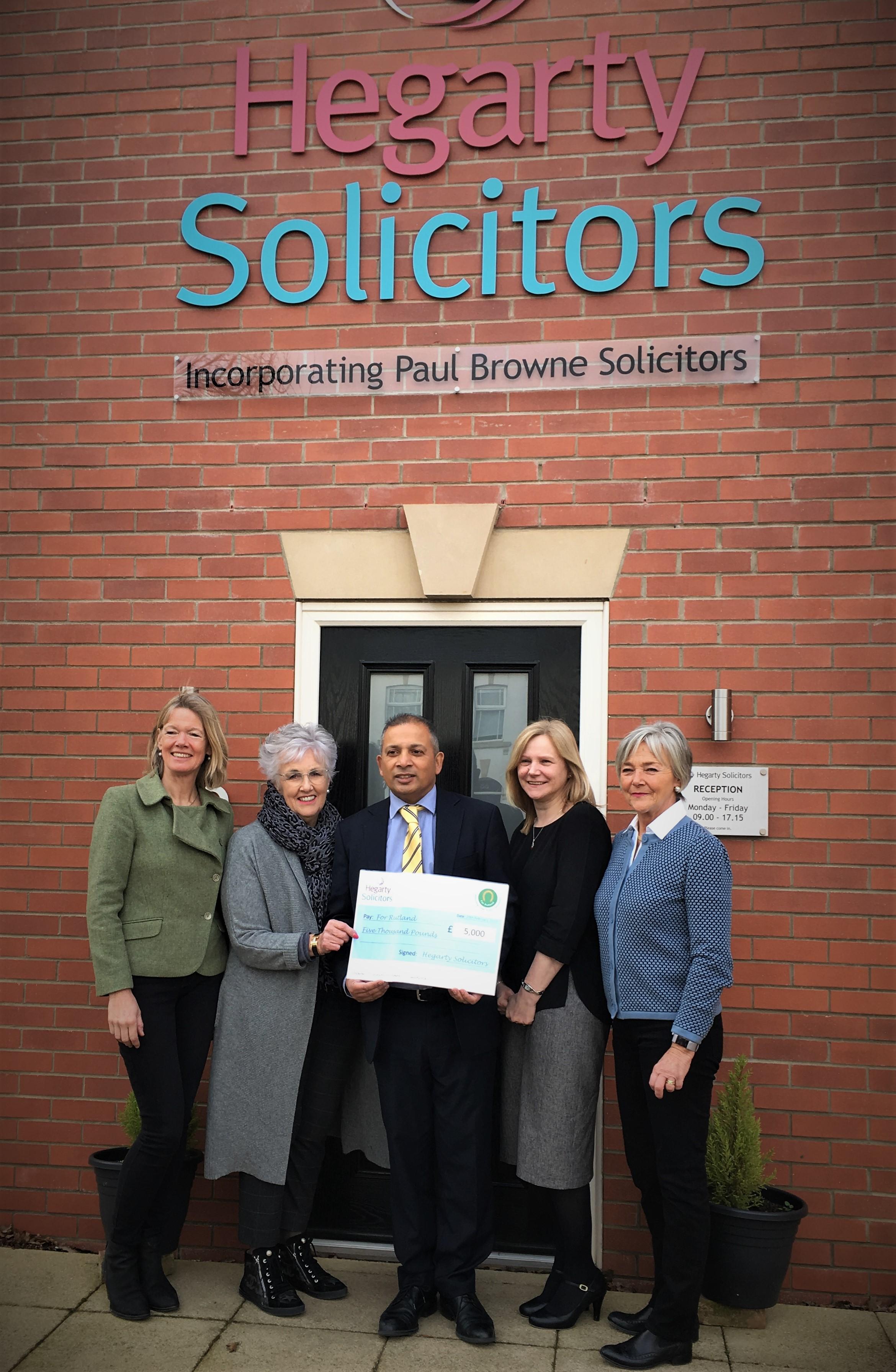 Hegarty Solicitors' marathon walk raises £5000 for local charity