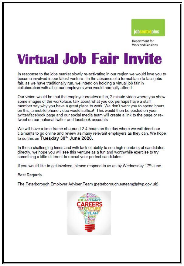 Virtual Job Fair 30th June