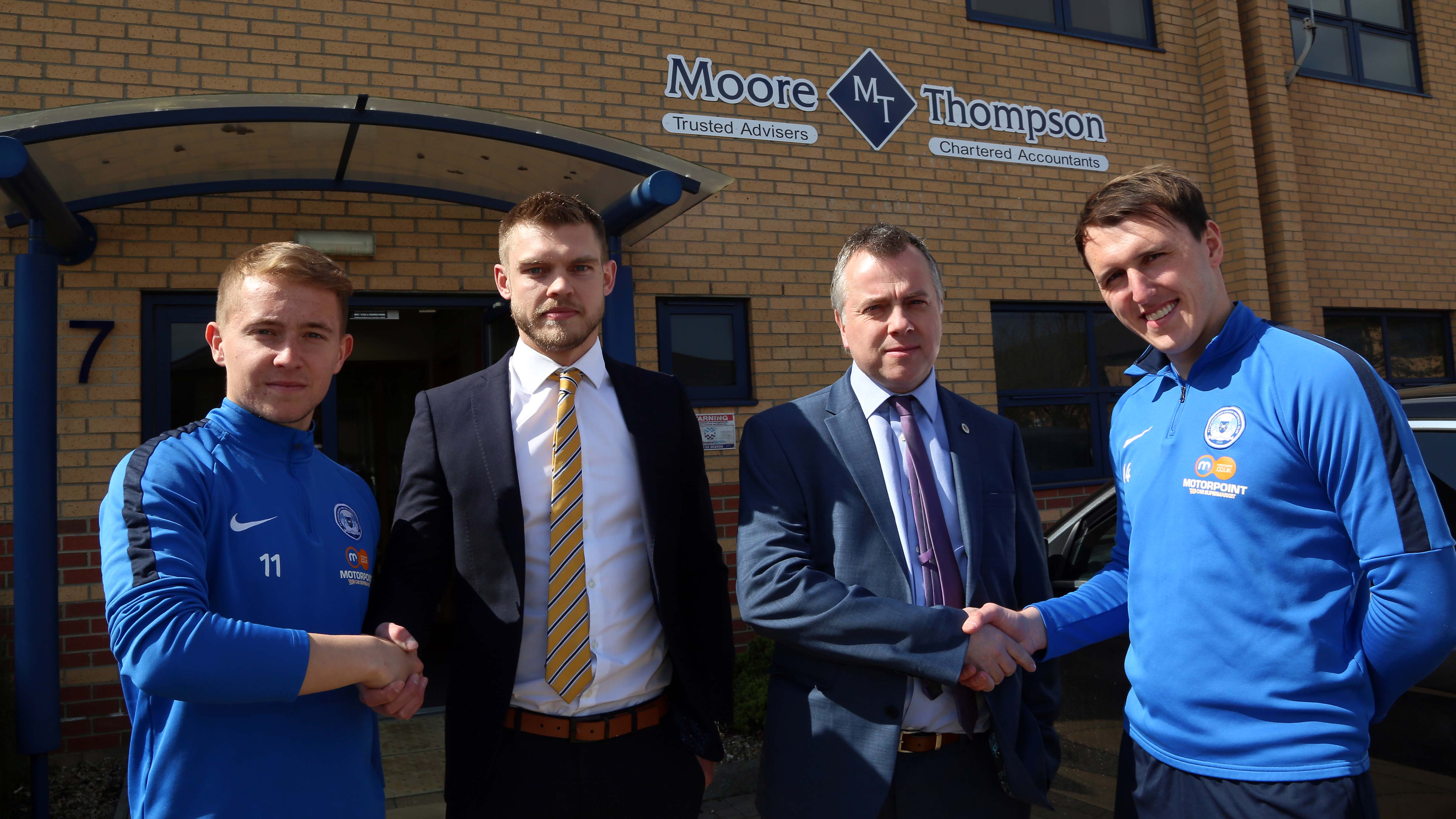 Moore Thompson Chartered Accountants are on the ball with support of Peterborough United