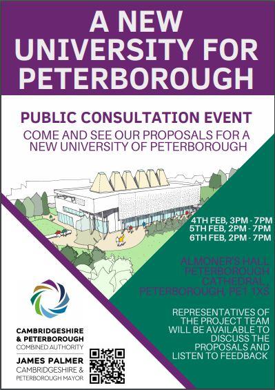 University of Peterborough Public Consultation Event