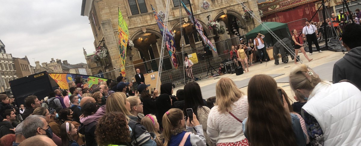 City Centre Animation project swings into action as the circus comes to town