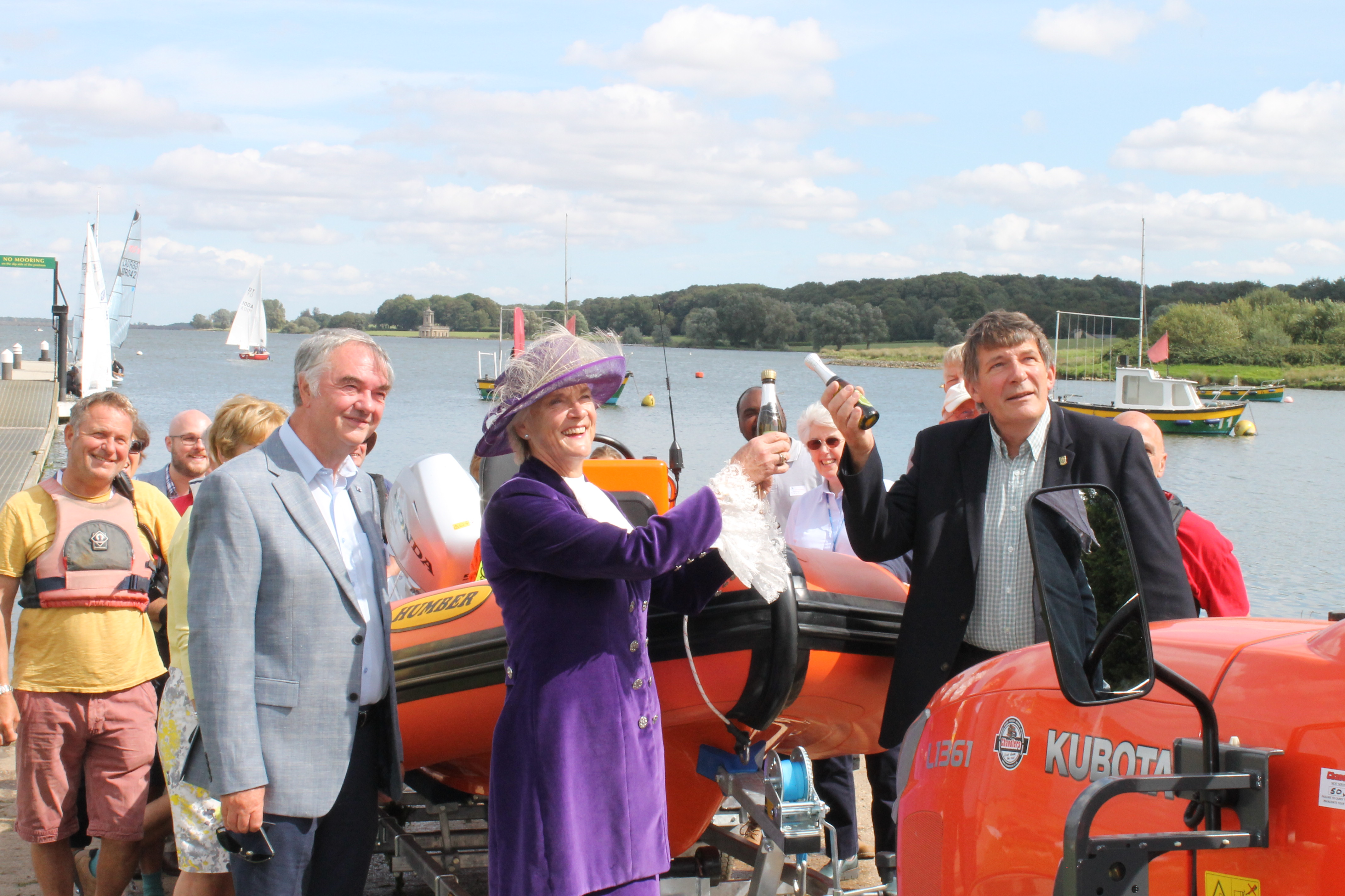 Rutland Sailability celebrates growing service after purchase of new safety boat thanks to £23,400 grant