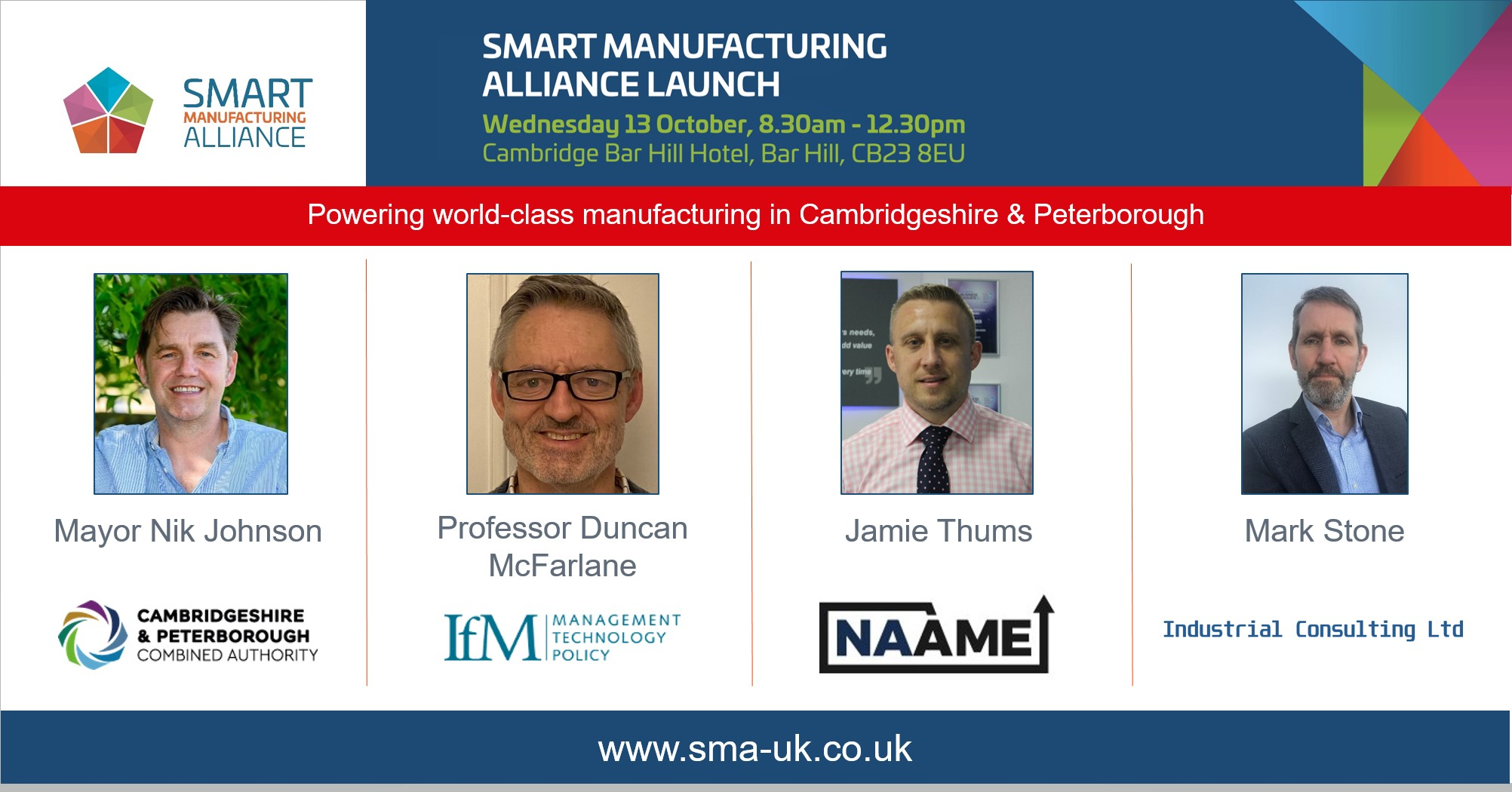 A new era for manufacturing in Cambridgeshire and Peterborough - Smart Manufacturing Alliance to launch on 13 October with support of top industry leaders
